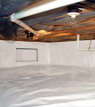 A complete crawl space repair system in Pisgah Forest