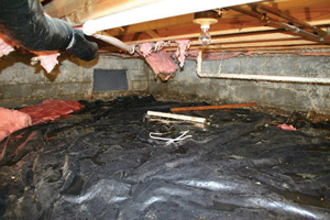 Crawl Space Repair Before in Franklin