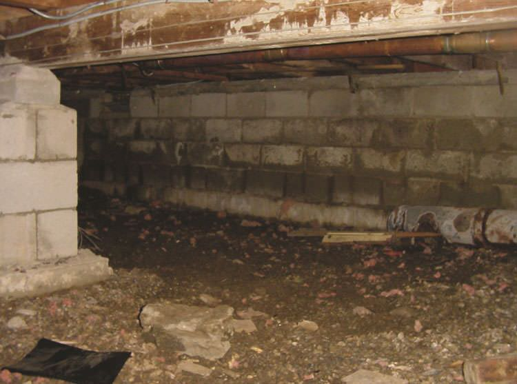 how to create vapor barrier in crawl space