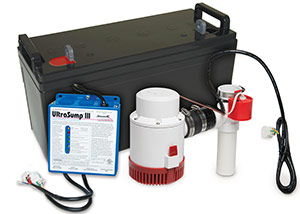 a battery backup sump pump system in Rosman