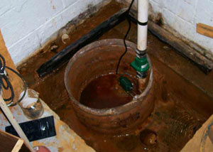 Extreme clogging and rust in a Rosman sump pump system